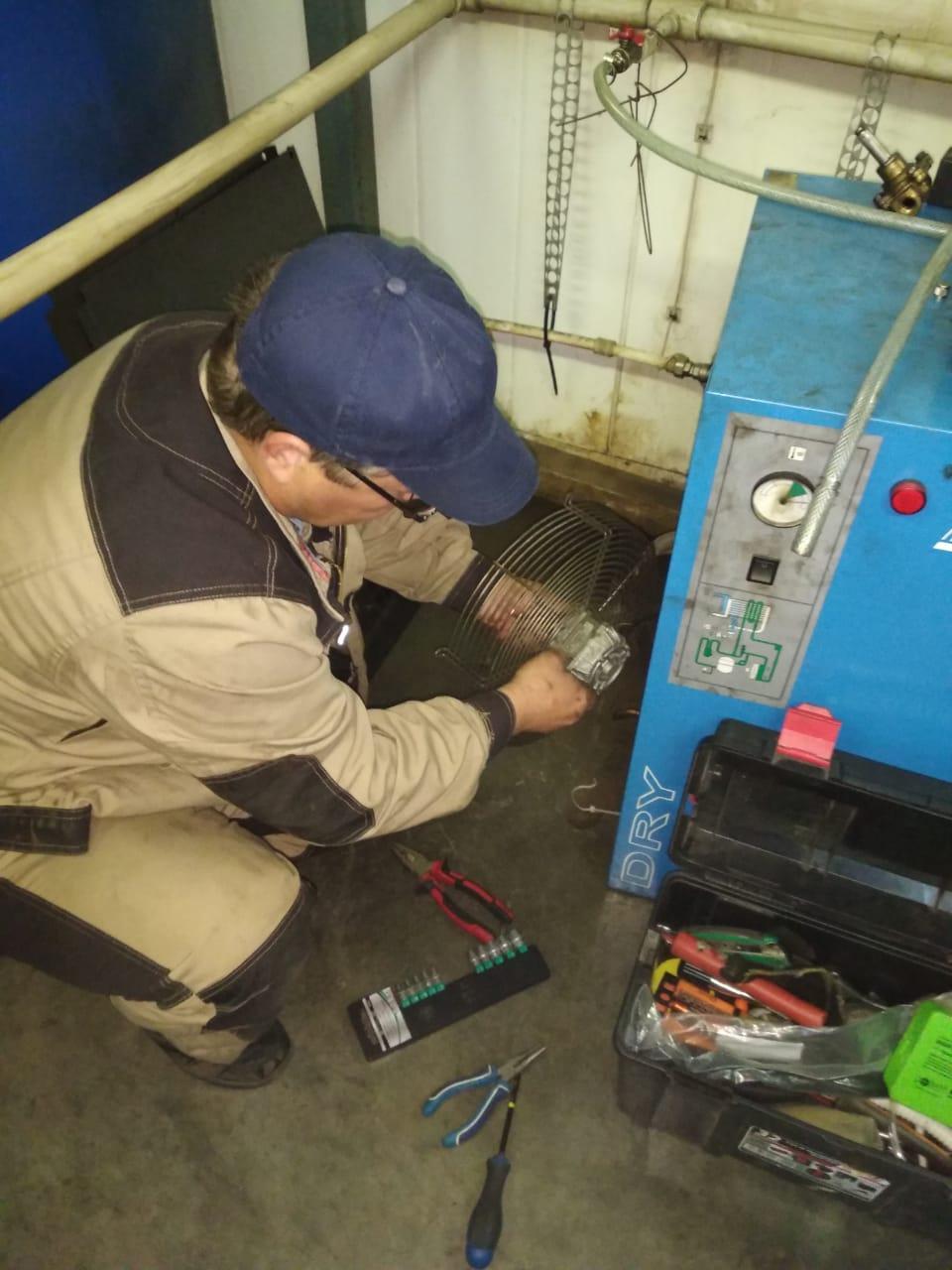Выполняем ремонт осушителя воздуха